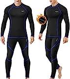 Mobiusphy sous-Vêtement Thermique Homme Ensemble de Sous-vêtements Thermiques L