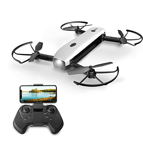 Eanling HS161 FPV RC Drone with 1080P HD Wi-Fi Camera Live Video Feed 2.4GHz 6-Axis Gyro Quadcopter for Kids & Beginners - Altitude Hold, One Key Start, Foldable Arms, Bonus Battery,Powerbank Function