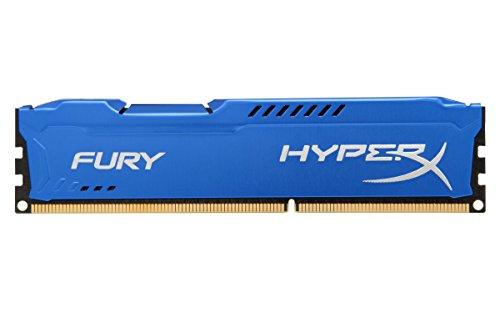 HyperX HX316C10F FURY - Memoria DDR3, 8GB, 1600MHz, CL10 240-pin, UDIM, color Azul