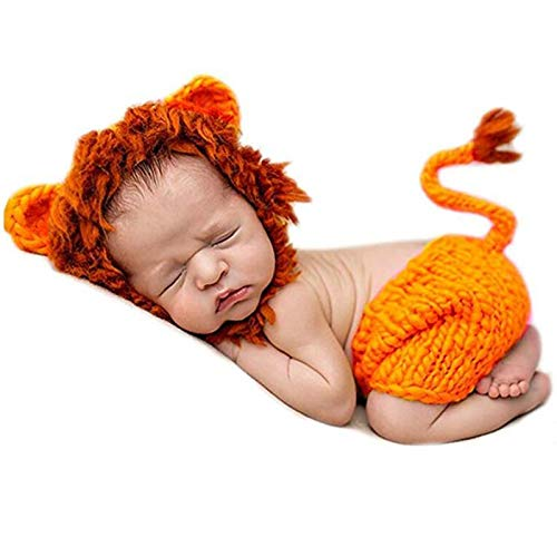 Newborn Halloween Costume Cute Lion Style Newborn Photography...