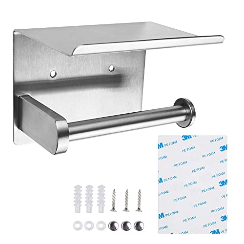 RV Toilet Paper Holder with Shelf for Mega Roll Tissue Wipes,...