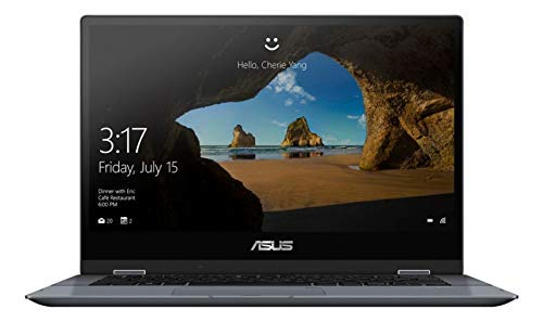 ASUS VivoBook Flip Laptop, 14' Touch Screen, Intel Core i3, 4GB Memory, 128GB Solid State Drive, Windows 10 Home in S Mode,TP412FA-OS31T (Renewed)