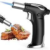 Bearbro Chalumeau de cuisine rechargeable, brûleur à gaz butane avec...