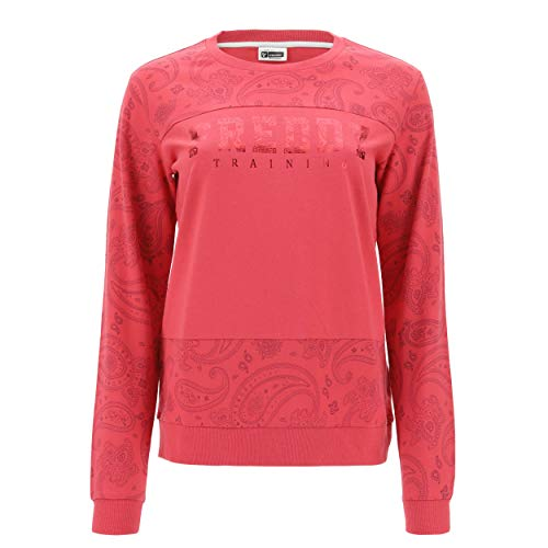 FREDDY Felpa Leggera a Fantasia Paisley con Stampa Training - Allover Flower Red-Raspberry - Large