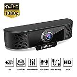 SriHome Webcam para PC Ordenador 1080P SH037, Cmara Web de Alta Definicin para Videollamadas Videoconferencia, Webcam USB Full HD Compatible con Skype, FaceTime, Hangouts, Plug and Play