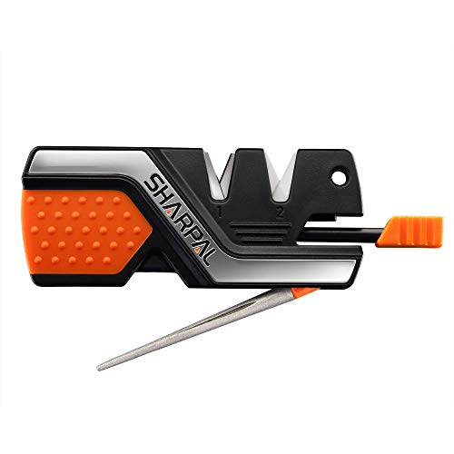 101N 6-in-1 Pocket Knife Sharpener & Survival Tool, with Fire Starter, Whistle & Diamond Sharpening Rod