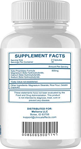Clinical Effects: Keto Support BHBoost - Dietary Supplement for Keto Weight Support - 60 Capsules 7