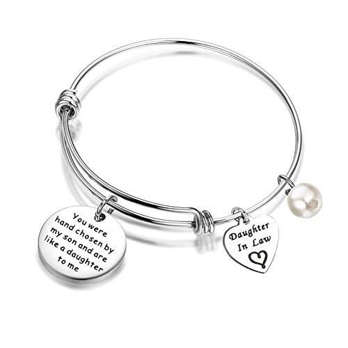 FEELMEM Daughter-in-Law Bracelet You Were Hand Chosen By My...