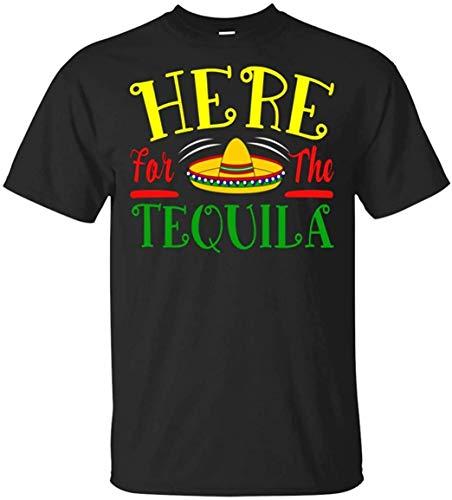 Dedesty Gracioso Hombre's Here for The Tequila Sombrero Mexico Fiesta Cinco De Mayo Customized Short Sleeve T Shirt