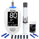 Dr Trust (USA) Fully Automatic Blood Sugar Testing Glucometer Machine with 10 Strips-9002 (White)