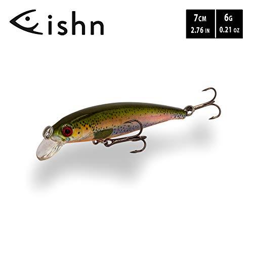 FISHINGGHOST TINYone Wobbler, Peso: 6g, Lunghezza: 7cm, Esche Artificiali/Esche da Pesca/wobbler per la Pesca di Pesci Predatori Come luccio, Pesce persico, Trota (Trout)