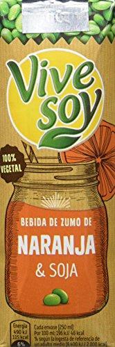 Vivesoy Zumo de Soja y Naranja - Paquete de 3 x 250 ml - Total: 750 ml - [Pack de 7]