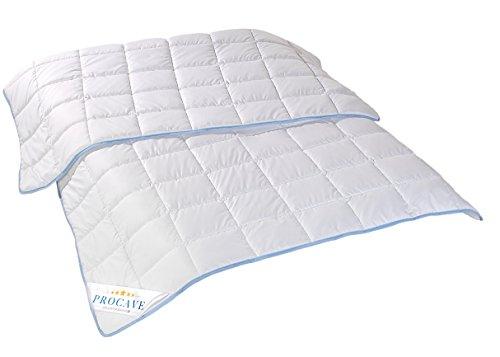 PROCAVE TopCool Qualitäts-Bettdecke für den Sommer 135x200cm, Soft-Komfort-Bettdecke, kochfeste Steppdecke, atmungsaktiv & wärmeausgleichend 100% aus Deutschland