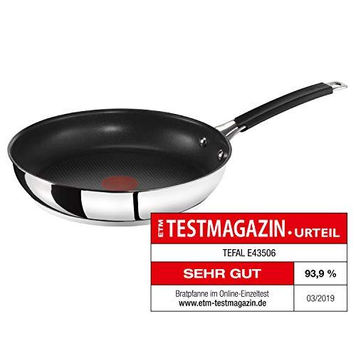 Tefal E43506 Jamie Oliver Pfanne | Bratpfanne | 28cm | Induktion | integrierter Temperaturanzeiger | Antihaft-Versiegelung | Edelstahl