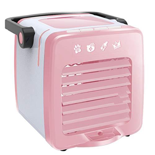 ZEELIY Climatiseurs Portables Refroidisseur d'air USB Climatiseur Mini Ventilateur 3 en 1 Réglable Air Climatiseur Mini Air Refroidisseur Humidificateur pour Maison Bureau Campus +AromathéRapie