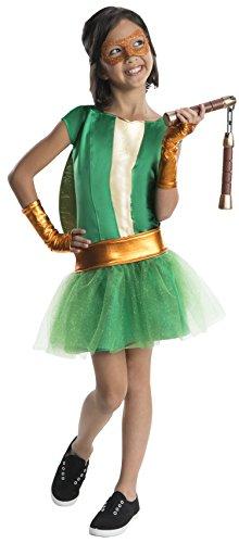 Rubie's Teenage Mutant Ninja Turtles Deluxe Child's Michelangelo Costume Tutu Dress, Medium