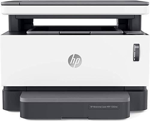 HP Neverstop 1202nw 5HG93A, Stampante Laser A4 Multifunzione con Serbatoio Toner a Ricarica Rapida, Stampa, Copia, Scansione, Wi-Fi, USB, Ethernet, Velocit 20 ppm, HP Smart, HP Smart Task, Bianca