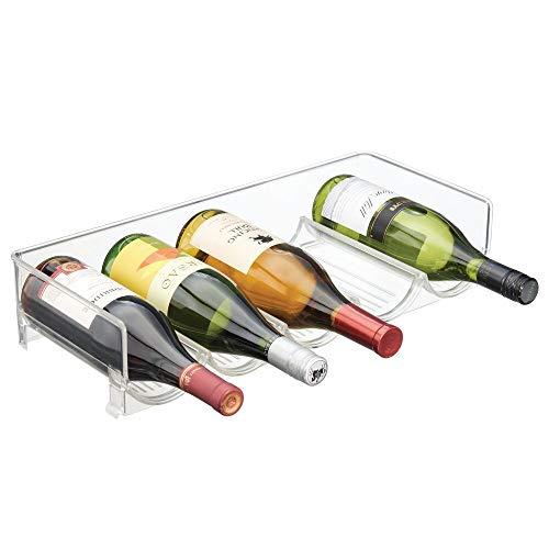 mDesign Cantinetta assemblabile  Cantinetta vino per bottiglie dacqua e bottiglie di vino  Portabottiglie moderno con 5 vani generosi  trasparente