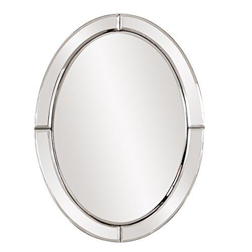 Howard Elliott Oval Hanging Wall Accent Mirror, Opal, 12 x 16 Inch