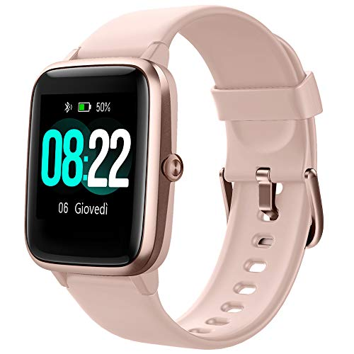 YAMAY Smartwatch Orologio Fitness Uomo Donna Smart Watch Contapassi Cardiofrequenzimetro da Polso...