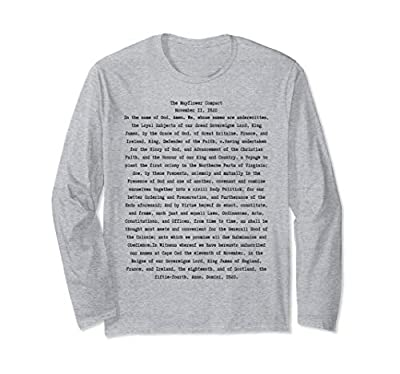 Trendy tee with The Mayflower Compact on the front and the signers names on the back. Awesome gift for American history fans, teachers, educators, students. The Mayflower Compact was signed on November 11th, 1620 on board the Mayflower. Fun history g...