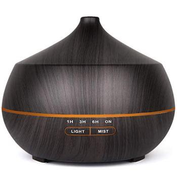 Difusor de aceite esencial, humidificador de niebla fría de 400 ml, un relleno para aroma y aromaterapia constantes de 10 horas, difusor para el hogar y la oficina