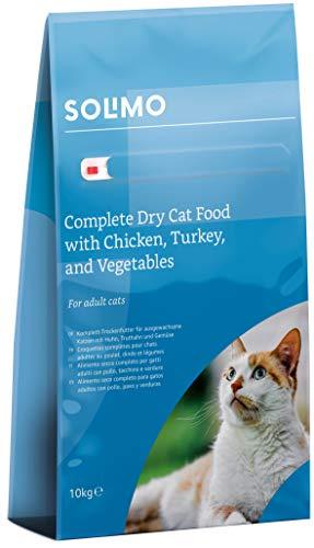 Amazon-Marke: Solimo - Komplett-Trockenfutter für erwachsene Katzen mit Huhn,...