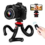 GooFoto Trépied Smartphone Portable, Trépied Flexible avec Télécommande, Trépieds Appareil...