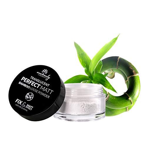ONE&ONLY for Face Translucent Perfect Matt Bamboo Loose Powder 10g, Polvere di bambù, prodotto per donna, ultraleggero, trasparente, opaco perfetto, senza effetto lucido, senza effetto'intonaco'