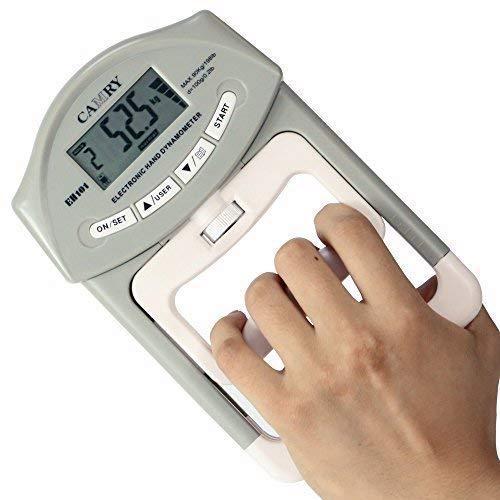 Camry - Dinamometro digitale, con impugnature per la misurazione della forza nelle mani, portata: 90 kg