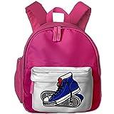 XCNGG Mochila para niños Mochila para niños Bolsos para niños Mini Kids Toddler Backpacks Sports Shoes Illustration Printed Shoulder Bag For Kids