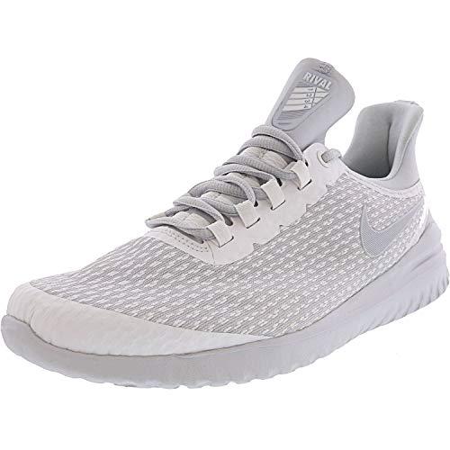Nike Women's Renew Rival White/Pure Platinum Ankle-High Mesh Running - 9.5M