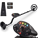 Metal Detector,Adjustable High Accuracy Beach Waterproof Metal Finders (41'-53') with DISC Mode, Pinpoint Function,4 Colors LED Light,Volume Controller,Gifts for Kids- Upgraded MMD05