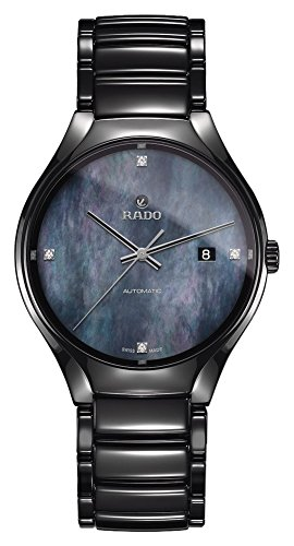 Rado True Damen-Armbanduhr Diamant 40mm Armband Keramik Automatik R27056872
