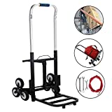 BestEquip 330 LBS Capacity Stair Climber Cart 30 Inch Folded Height...