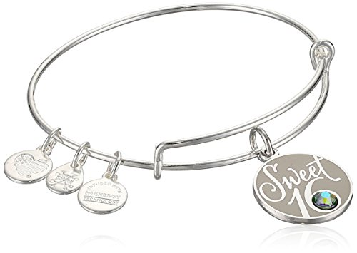 Alex and Ani Womens Sweet 16 EWB Bangle Bracelet, Shiny Silver, Expandable