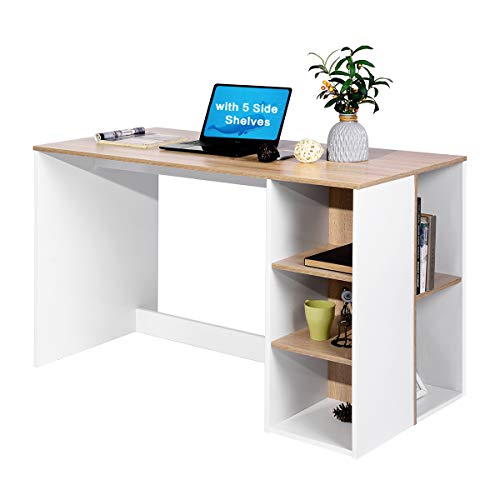 Office Computer Desk 47.2 Inch ps5 Gaming Desk with Drawers Kids Study...