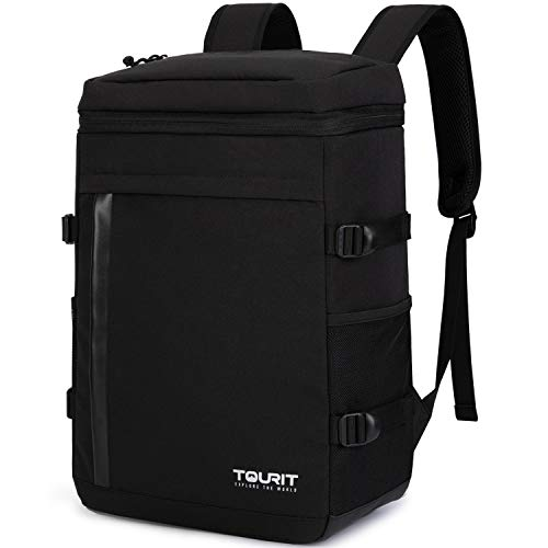TOURIT Cooler Backpack 32 Cans Large Capacity Insulated Backpack Cooler Bag for Men Women to Picnic, Hiking, Camping, Fishing (Black)
