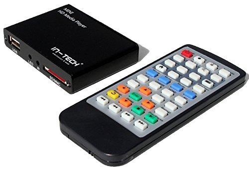 IN-TECH: LETTORE MULTIMEDIALE FULL HD MEDIA PLAYER MKV, VOB, AVI, HDMI, USB, SD, AV,H.264 CON CAVO...