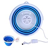 10L Portable Mini Washing Machine, Folding Turbo Washing Compact Ultrasonic Turbine Washer...