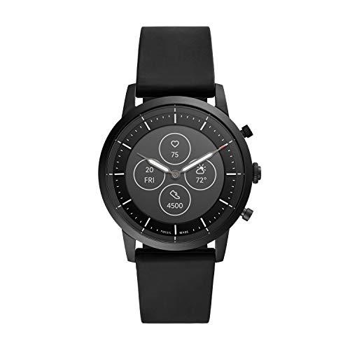 Fossil Collider Hybrid Hr Smartwatch Black Dial Men's Watch - FTW7010