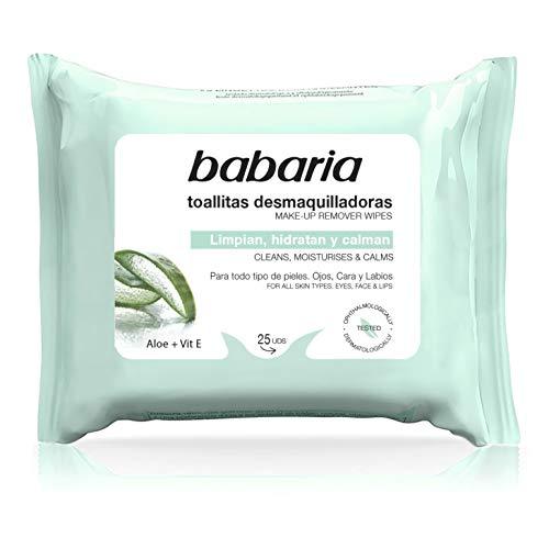 Babaria – Toallitas Desmaquillantes Aloe Vera – 25 Uds,