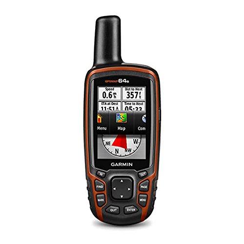 Garmin GPSMAP 64S GPS Portatile Impermeabile, Schermo Colori 2,6', Altimetro Barometrico, Bussola Elettronica, Arancione/Nero