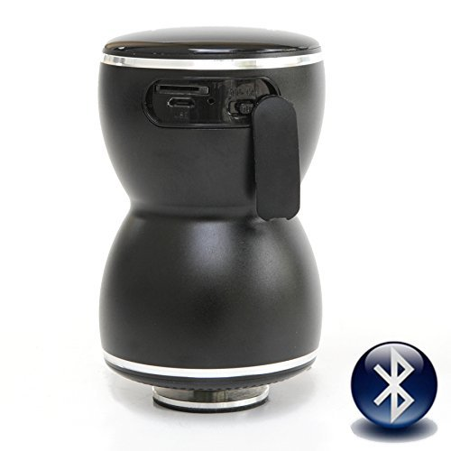 Vibe-Tribe Thor Black: 20Watt Bluetooth Full-Feature Vibration Speaker, Touch Screen and Memory Slot