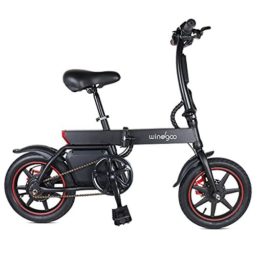 Mangoo Bicicleta eléctrica, Bicicleta eléctrica Plegable con Motor...