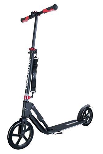 "HUDORA 14235 Big Wheel Style Alu 9\"" BigWheel 230-Tret-Roller klappbar City-Scooter, schwarz, One Size"