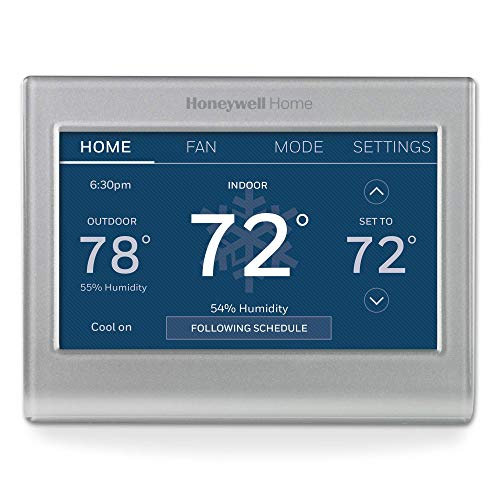 Honeywell Home RTH9585WF1004 Wi-Fi Smart Color Thermostat, 7 Day Programmable, Touch Screen, Energy Star, Alexa...
