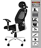 SAVYA HOME APEX Apollo Chrome Base High Back Engineered Plastic Frame Office Chair