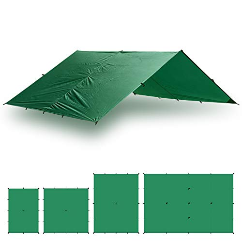 Aqua Quest Guide Tarp - 100% Waterproof Ultralight Ripstop SilNylon Backpacking Rain Fly - 10x7 ft