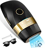 Hair Removal for Women and Men Permanent Painless Laser Hair Remover Upgraded to 999,900 Flashes with Ice Cool, At Home Hair Removal Device for Facial, Whole Body(Black)